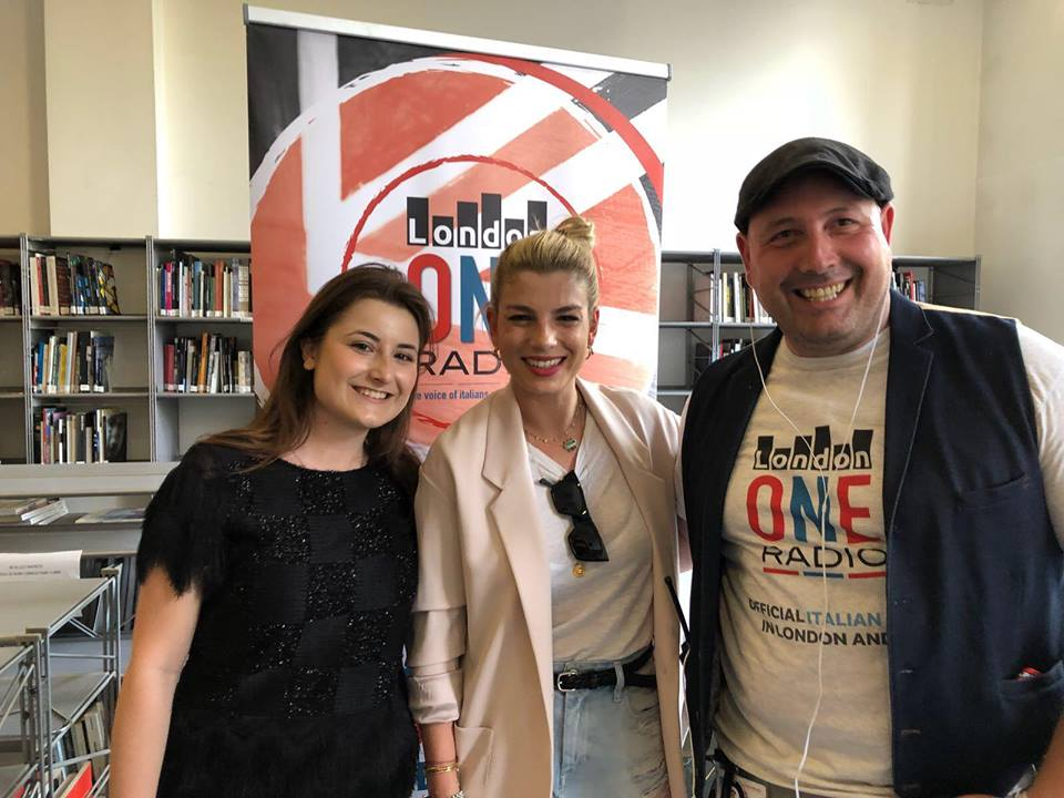radio city milano host Emma Marrone at LondonONERdio with Rosita