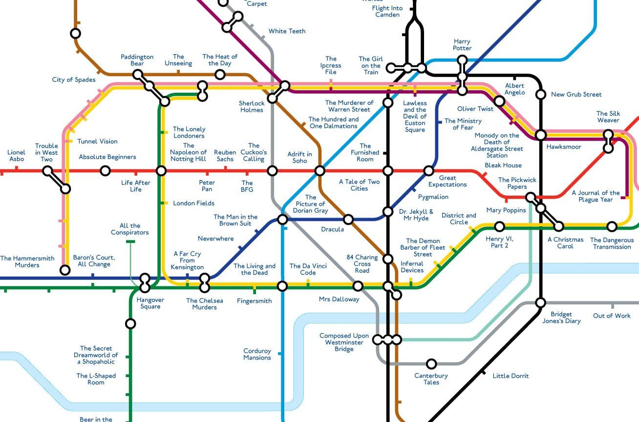 Zone Di Londra Cartina.La Mappa Della Metropolitana Di Londra A Tema Letterario London One Radio