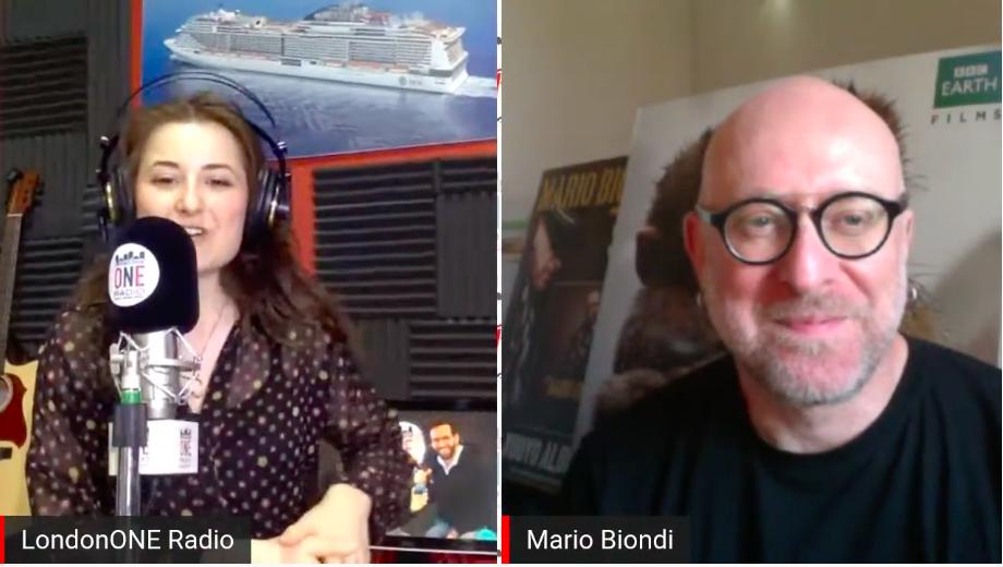 <em>Mario Biondi in radio-video diretta su London ONE Radio con Rosita Dagh, conduttrice radiofonica di London Calling e Young Music Talent show</em>