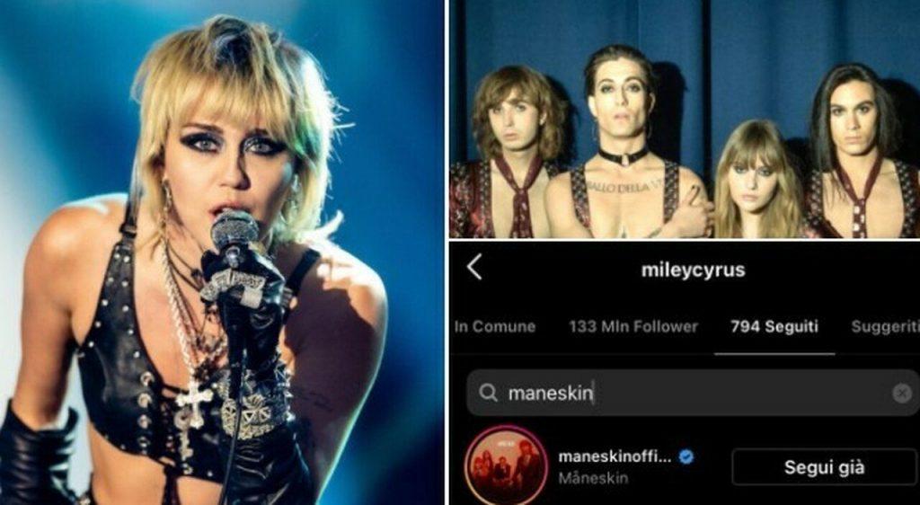Maneskin primi in 30 paesi e guardano a Miley Cyrus che li ama!